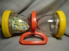 80S Toys For Girls | Fisher Price baby toy - rattle/hourglass we had this and then played ...