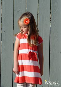 Here is the second everyday dress pattern I made last week.     I LOVE how it turned out, and so does Emily.         When she saw it, her...