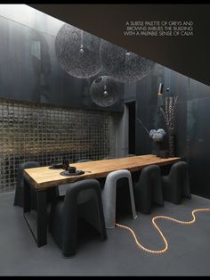 Love the dark colors...as always! ELLE DECO UK Oct. 2012 - Laurence Simoncini, Serendipity co-founder at home