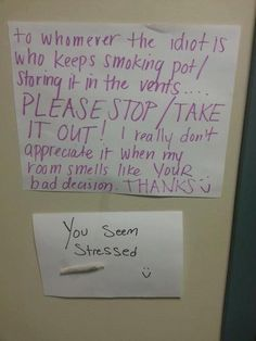 The Most Entertaining Obnoxious Or Completely Insane Notes Written To Neighbors   Happy Place