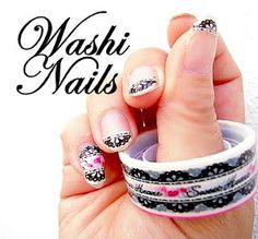 Simply put washi tape on your nails and use a nail clipper to get rid of the excess tape. How cool is it to do nail art without all that nail polish?