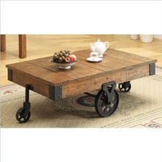 Cart Style Tables - Come and see all our great deals at Industrial Decor for Less and share this pin with your industrial decor loving friends!