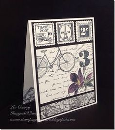 """2015 Postage Due Clear Stamp Set [126397] Postage Stamp Punch [122344] Very Vanilla 8-1/2"""" X 11"""" Card Stock [101650] Basic Black 8-1/2"""" X 11"""" Card Stock [121045] Typeset Specialty Designer Series Paper [133704] Many Marvelous Markers [131264]"""