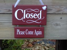 Primitive Rustic Retail Shop Store Open Closed by heartfeltgiver