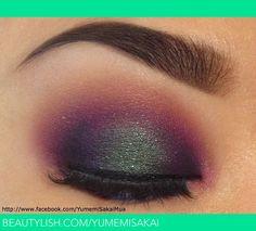 This is sooo perfect! Yumemi Sakai created a gorgeous colorful smoky eye using all Sugarpill eyeshadows. Love the Junebug on the center of the lid! Face Paint Makeup, Skin Makeup, Eyeshadow Makeup, Makeup Art, Makeup Tips, Makeup Ideas, Makeup Stuff, Bright Eye Makeup, Colorful Makeup