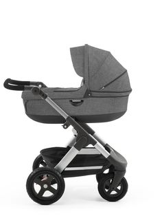 Have you seen the all-new All Terrain Stokke Trailz stroller?? Grows with baby from newborn to 45lbs!
