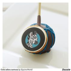 Cute zebra cartoon cake pops
