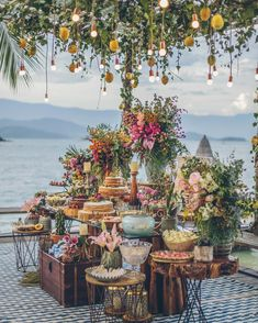 """I have been obsessed with the wedding designer in Renata Paraiso. More of her designs on my website under the Floral Empire"""" Inspiration Board design board Perfection! Wedding Stage, Wedding Themes, Wedding Designs, Wedding Decorations, Table Wedding, Bohemian Wedding Flowers, Boho Wedding, Dream Wedding, Wedding Beach"""