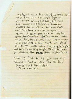 Kurt Cobain's journal.