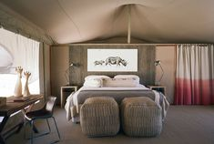 Set in the heart of Kaokoland, one of the most remote parts of Namibia, Hoanib Valley Camp is a joint venture between the local Himba community and Tent Room, Elephant Camp, Travel Expert, Beautiful Hotels, Double Bedroom, Best Places To Eat, Lodges, Beautiful Landscapes, Glamping