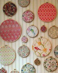 刺繍枠を使って壁を飾る まとめ