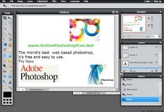 Online Photoshop is a free photo editing web based editor. It is easy to use and has lots of features including basic tools of other common photo editors byadobe.