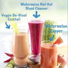 A trio of #watermelon power drinks! #eatmorewatermelon
