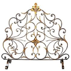 Fire Screen French Antique Styled Handmade New Free Shipping Gold Leafed  #rt #FrenchCountry