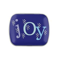 Winter JOY Tins and Jars w. Candy Candy Tin