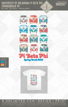 Pi Phi Spring Break PR #BUonYOU #greek #greektshirts #greekshirts #sorority #pibetaphi #springbreak #vans #retro