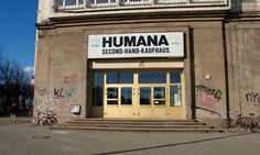 Humana in Berlin: You'll find the shops, part of a humanitarian organisation, spread around the whole city, but the Humana Kaufhaus in Friedrichshain is not a secondhand shop, it's a secondhand department store. Shopping Berlin, Berlin Travel, Second Hand Shop, Berlin Things To Do In, Window Display Retail, Reisen In Europa, Where To Go, Night Life, Vintage Shops