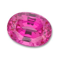 7x5mm Oval Gem Quality Chatham Cultured Lab-Grown Pink Sapphire Weighs .95-1.17 Ct.