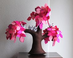 Pink weeping willow Felt Tree by Intres on Etsy, $55.00