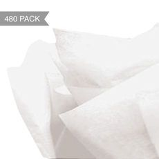 Pack Queen: White Tissue Paper - Acid Free 500 x 760mm (Bulk 480 Sheets) $30