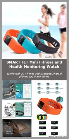 Here is the great Smart FIT mini Fitness and Health Monitoring Watch Bracelet with Call and Bluetooth Message Alert Notifier for your Smartphone and Smart Devices. Works with all iPhones and Samsung Android phones and many others.