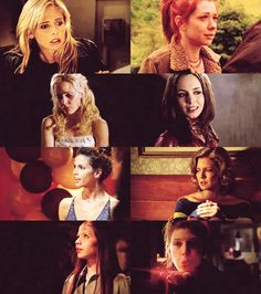 The main ladies of BtVS. Buffy, Willow, Anya, Faith, Cordelia, Joyce, Dawn, and Tara. Love them all.