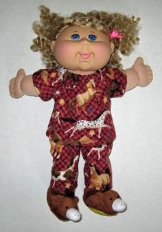 Cabbage Patch Doll Clothes Horse Print  Pajamas by Dakocreations, $22.99