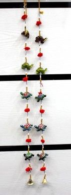 Buy A Set of Indian Traditional Home Decorative Five Turtle Beads String Wall Door Hanging Online - Beaded Wall Hangings