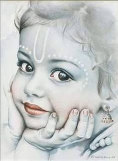 lord bal krishna and moon Krishna Flute, Cute Krishna, Radha Krishna Love, Krishna Radha, Krishna Drawing, Krishna Painting, Lord Krishna Wallpapers, Radha Krishna Wallpaper, Lord Krishna Images