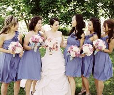 love the color of the bridemaids' dresses