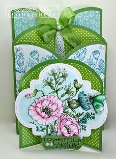 handmade card ... luv this cascade design ... the card and all of the panels were done with a Silhouette Cut file ... lovely natural wildflowers image ... sweet card!!