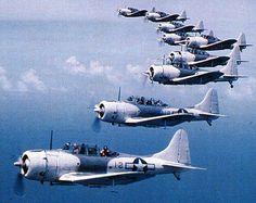 Douglas SBD5 Dauntless Dive Bombers.