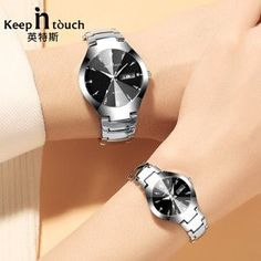 Men & Lady's New Fashion Wristwatch Luxury Lovers Watch Quartz Calendar Dress for Couples