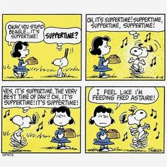 snoopygrams A suppertime song and dance 🎶 Snoopy Comics, Snoopy Cartoon, Cartoon Clip, Peanuts Cartoon, Peanuts Snoopy, Peanuts Comics, Snoopy Love, Charlie Brown And Snoopy, Snoopy And Woodstock