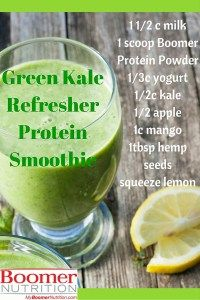Think a kale protein smoothie tastes like kale? Get health benefits of vitamins & fibre from kale & protein power of Boomer Nutrition Protein. Hemp Protein, Protein Power, Smoothie Recipes, Protein Smoothies, Green Kale, Green Powder, Vanilla Protein Powder, How To Squeeze Lemons, Protein Sources