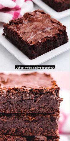 Brownie Recipe With Cocoa, Brownie Recipe Video, Fudgy Brownie Recipe, Bakers Chocolate Brownies Recipe, Classic Brownies Recipe, Homemade Brownies, Best Brownies, Fudgy Brownies, Desert Recipes