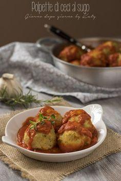 Polpette di ceci al sugo, ricetta secondo vegetariano e vegano con procedimento al Bimby e tradizionale