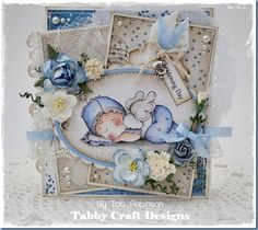 Christening Card by Tab