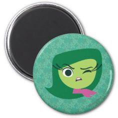 Disgust 2 Inch Round Magnet | Disney Pixar Inside Out Movie