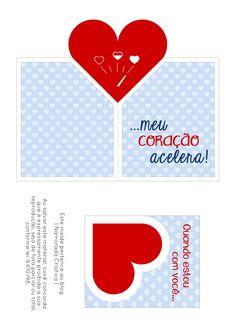 DIY - CARTÃO POPUP - BLOG NAMORADA CRIATIVA - MOLDE Envelope, Valentines Day, Playing Cards, Geek Stuff, Clip Art, Create, Blog, Boyfriend Gift Ideas, Dating