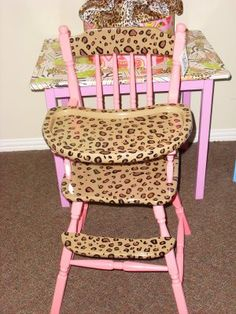 Want to do something like this with Laila's baby doll high chair