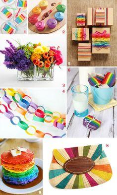 Rainbow party ideas.