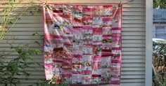 It was time for a scrap quilt, and my bin of pinks seemed the most full. I dumped them out and then decided to look through the multi-color...