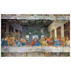 DA VINCI - THE LAST SUPPER - YESTERDAY 140x86 cm / 100x62 cm #artprints #interior #design #DaVinci #Leonardo Scopri Descrizione e Prezzo http://www.artopweb.com/autori/leonardo-da-vinci/EC15127