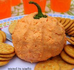 kids pumpkin cheese ball party food idea