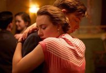 "Saoirse Ronan and Domhnall Gleeson are shown in an embrace in the first official photo released from period romantic drama ""Brooklyn. Hallmark Romantic Movies, Hallmark Movies, Drame Romantique, Julie Walters, Domhnall Gleeson, British Academy Film Awards, Sundance Film Festival, Emotion, Ex Machina"