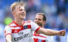 Download wallpapers Rick van Drongelen, Hamburger SV, footballers, soccer, Bundesliga, football, Hamburger