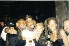 Tupac Shakur, Jada Pinkett and Joe Torre