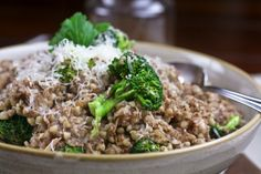 "Going grain-free! Creamy Buckwheat ""Risotto"" Style 