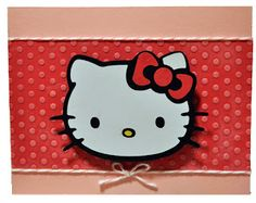 hello kitty embossed card